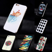 Fashion 3D Painting Phone Case for IPhone 5 Slim Back Cover PC Hard Skull Cat Cases for IPhone5 Accessories Mobile Phone Cases(China)