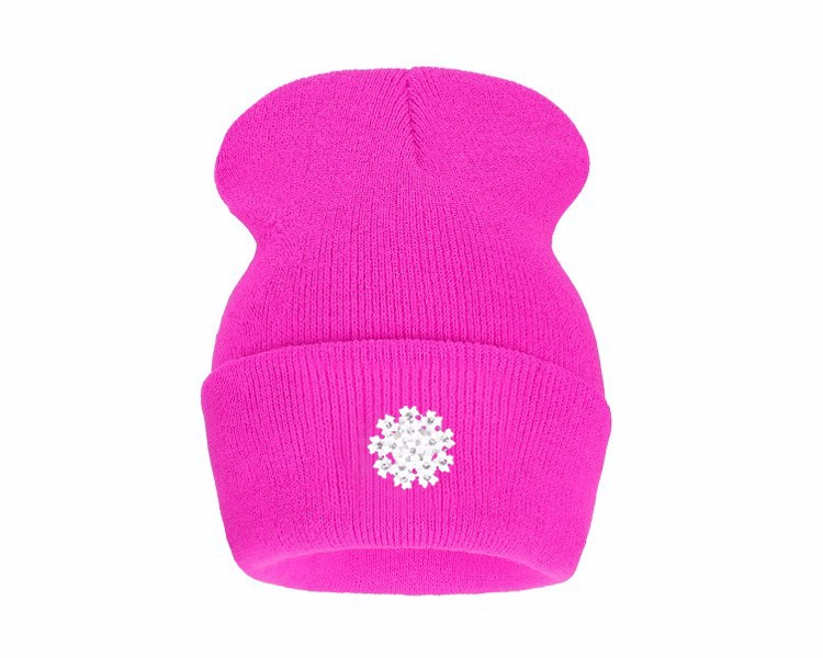 Ralferty New Fashion Lovely Knitting Wool Acrylic Beanies Hip Hop One Flower Hats for Women Gorros Bonnets Caps Woman Floral Cap 3