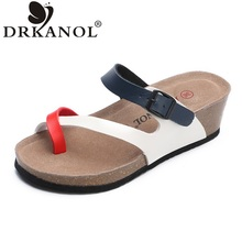 DRKANOL 2017 New Arrival Summer Women Sandals Fashion Comfortable Wedge Sandals Casual Beach Flip Flops Shoes Sandalias Mujer