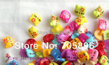 "Free Shipping 200pcs Hello Kitty  Button Sewing Craft Scrapbook Garment DIY children's ""Rainbow"" themed party"