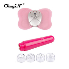 Ckeyin 4 Heads Massager Pen Wrinkle Sonic Eye Massage + Butterfly Body Slimming Electric Slim Pulse Muscle Relax Fat Burner S50(China)