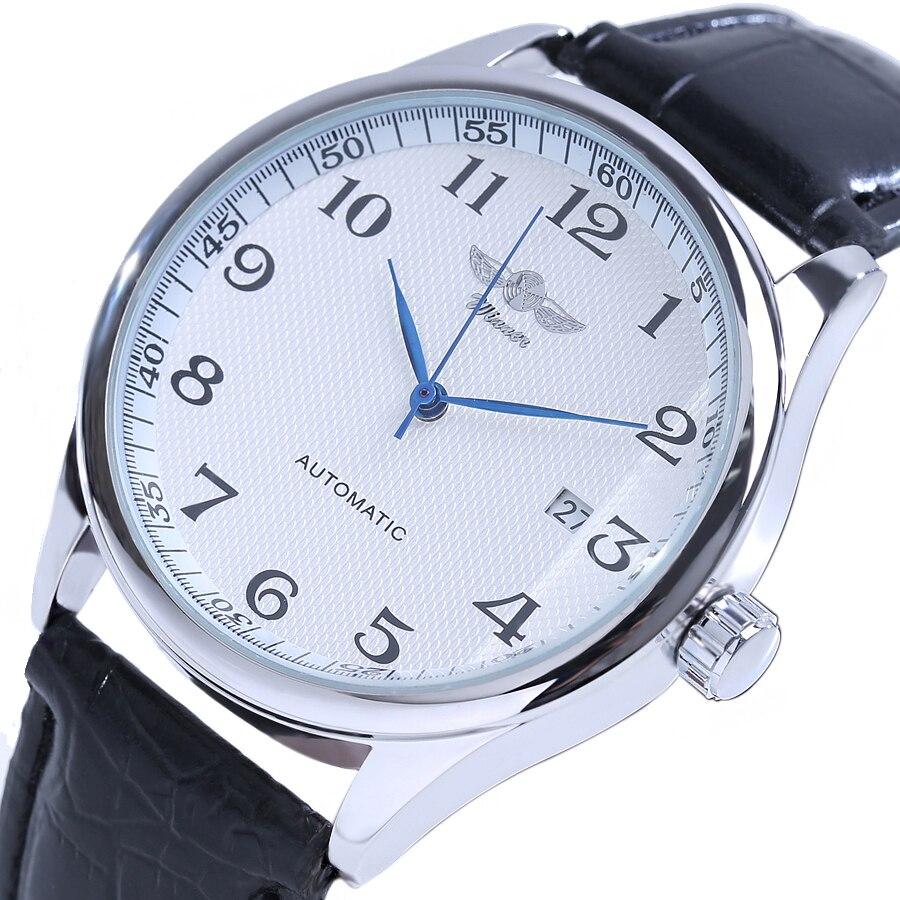 Winner Luxury Men Mechanical Watch Classic Date automatic Mechanical Watch Self-Winding Skeleton Black Leather Strap Wrist Watch<br>