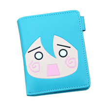 Japan Style Comic Miku Naruto Love Live Totoro Sailor Moon Tokyo Goul Short Wallets With Button Zipper Coins Bags Women Purse(China)
