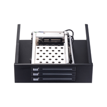ST5534 Optical drive bay 3*2.5in hard drive caddy to 5.25in PC bay  SATA internal hdd mobile rack