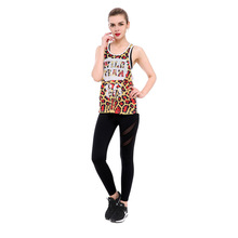 Sexy Leopard Print Nettop Cool Tank Top Mesh Sleeveless Quick Dry Vest Tops Womens T8809