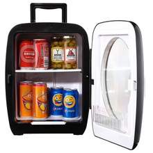 Smad 15L 12V Mini Car Fridge Portable Thermometric Truck Refrigerator for Camping Hiking 110V/220V Home Office Cooler Warmer