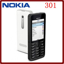 Original Nokia 301 Unlocked WCDMA 2.4`` Dual SIM Cards 3.2MP QWERTY Keyboard Refurbished Mobile Phone Free Shipping