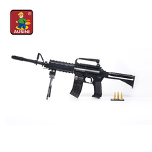 Learning & Education Ausini Blocks Guns Model Building Toys 524 Pcs Bricks Gun Series M16 / Classic Toys and Children's Product(China)