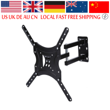 TV Wall Bracket TV Wall Mount Full Motion Tilt Swivel Holder LCD LED Plasma 14-46 inches Wall Stand Adjustable Mount Arm(China)