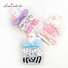 Buy Lemonkoko 3 Pcs/lot Infant Baby Kids Girls Headband Ear Hairband Knot Headwear Baby Hair Accessories Child Turban for $3.02 in AliExpress store