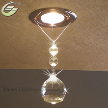 New Dining Living Room Night 3W LED Down Lighting Modern Chandelier Crystal Ceiling Decoration Lamp Recessed Free Shipping
