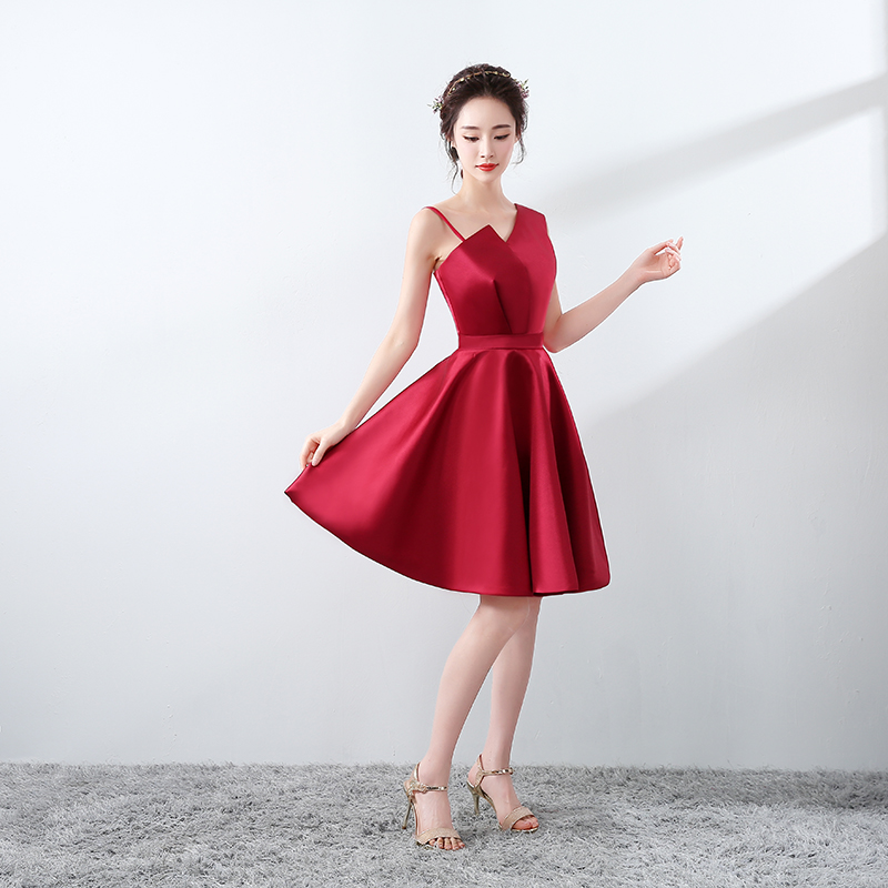 2017 Red Girls Short Cocktail Dresses Sexy Grils Women Party Gown ...