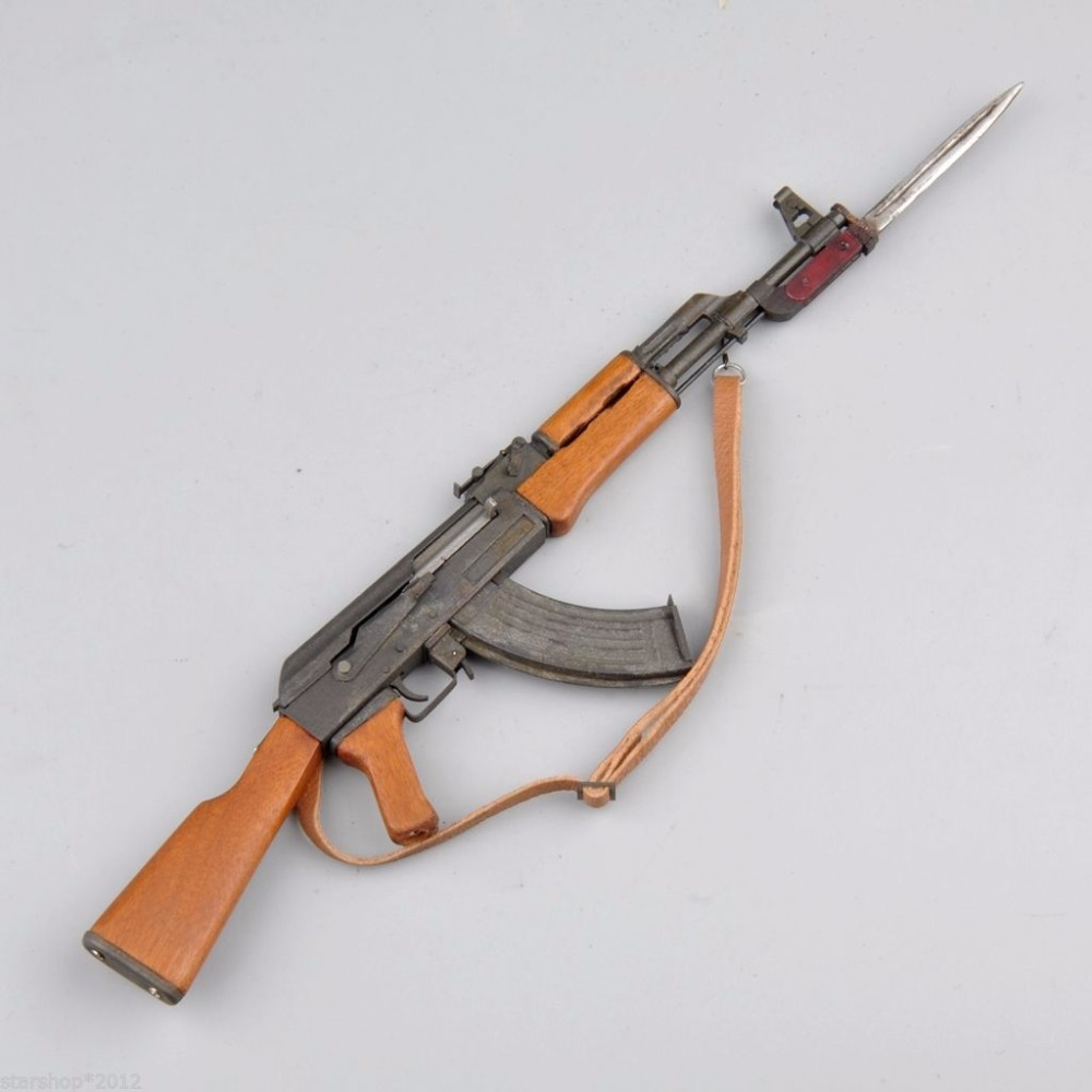 1/6 Scale Model Weapon Toys Metal AK47 Model Kit With Bayonet for 12 inches Military Action Figure Soldier Toys Parts Accessory<br><br>Aliexpress