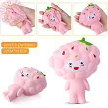 2017 12CM Jumbo Colossal Clouds Cartoon Doll Kid Toy Squeeze Gift Kawaii Cute Soft Squishy Slow Rising Phone Strap Bread Cake