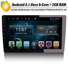 "8-core 10,1 ""DAB + 1 DIN Авторадио Android 8,1 штатную gps NAVI Bluetooth 4 г OBD DVB-T2 AUX радио RDS BT DVD USB SD DVR(China)"
