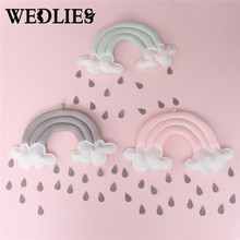 Rainbow Cloud Tent Wall Hanging Ornaments Photo Prop Kids Toy Bedroom Nordic Style Christmas Decorations For Home New Year Gifts(China)