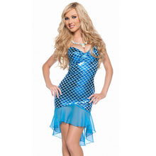 2017 Promotion Carnival Costume Disfraces Mermaid Dress Slim Skirt Bright Flash Nightclub Singer Ds Performance Clothing Leather(China)
