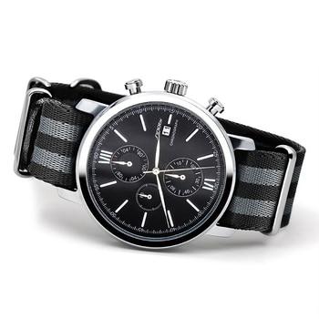 Sinobi sports men chronograph relógios de pulso cinta nato nylon pulseira de luxo homens militar genebra quartzo relógio de james bond 007