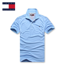 TOMMY HILFIGER fashion relaxation classic  22 colors  pure color polo shirt for man