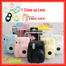 Fujifilm Mini 8 Camera + Free Closeup Lens Fuji Instax Mini 8 for Intax Film Photo Camera in 7 Colors(China)