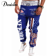 2017 spring mens sporting pants new letter prints Joggers casual pants fitness Loose Sweatpants trousers hip hop plus size 3XL