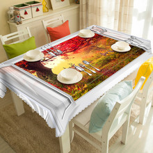 Vivid Household Dining Table Cloth Colorful Party Festival Picnic Outsidedoor Cloth Mat Table Cloth Cartoon Pictures Print