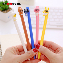 4 Pcs/lot The New Cute Neutral 0.38mm Pen Cartoon Animal Pen Creative Friction Erasable Stationery Pens Material Escolar(China)