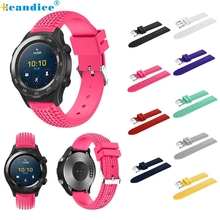 Hcandice Perfect Gift   New Fashion Sports Silicone Bracelet Strap Band For Huawei Watch 2  Mar13