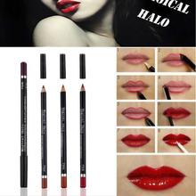 Magical Halo 12 Colors Lip Liner Set Natural Waterproof Lipliner Long Lasting Nude Cosmetics Makeup Lip Liner Pencil