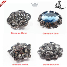 1 pcs,40-42mm mix fashion metal acrylic Fur buttons, Mink coat buttons. Rhinestone buttons. big with a diamond buckle.accessory