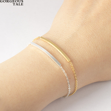 GORGEOUS TALE 10PCS Famous Brand Bracelet Hand Accessories For Women Stainless Steel Square Bracelet Gold Silver Men's Jewelry