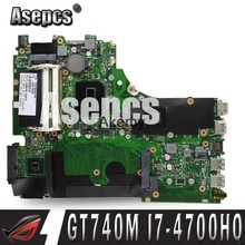 Asepcs X750JB Laptop motherboard For ASUS A750J K750J X750JN X750J Laptop motherboard I7-4700HQ CPU Mainboard With GT740M(China)