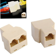 5Pcs 3 Sockets RJ45 6 LAN Ethernet Splitter Adapter Internet Connector Cable A9-004