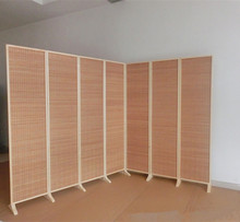 Wide and Large Decorative Freestanding Woven Bamboo 7 Panel Hinged Privacy Screen Portable Folding Room Divider Wall Partition(China)