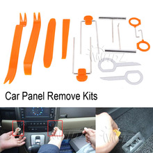 WHDZ 12Pcs Plastic Car Panel Remove Kits Auto Radio Door Clip Panel Trim Dash Audio Removal Installer Pry Tool Repairing Set