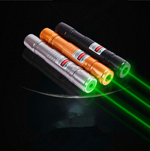 green laser pointer starry image cap light match Golden style green laser pointer fat Beam extream bright and powerful