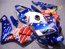 Hot Sales,Whole Set For Honda CBR 600 RR F5 2003 2004 CBR600RR 03 04 USA Stars ABS Motorcycle Fairing Kit (Injection molding)