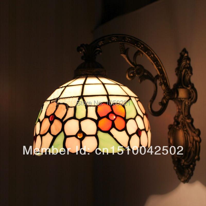 Tiffany Wall Light Sconces European Garden Deco Lamp Mirror Front Light for Bedroom Study Corridor Wall Light Sconces<br><br>Aliexpress