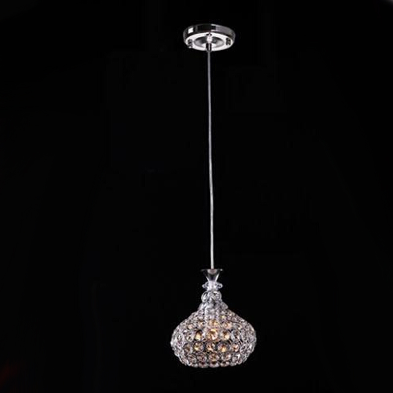 Single Head 5w AC85-265v modern crystal pendant light lustres pendentes home decor fixture lighting Dia18cm crystal lamp<br>