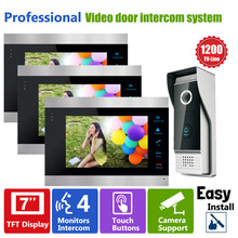 Homefong Monitor Video Door Phone Intercom Doorbell 7Inch  LCD Screen Digital Door Viewer  1200TVL Camera with Doorbell Intercom