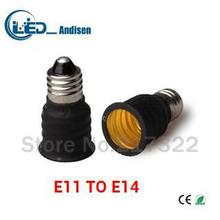 E11 TO E14 adapter Conversion socket High quality material fireproof material E14 socket adapter Lamp holder(China)