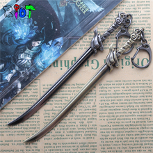 online game LOL keychain League of Legends keyring The Unforgive Game accessories weapons model Key holder pendant key buckle