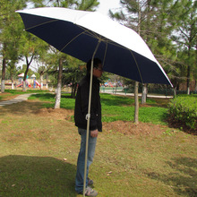 Wholesale outdoors parasol fishing umbrella   folding  aluminum frame universal steering gear advertising  Painted  umbrella 2M