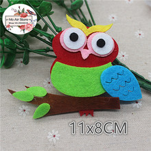 8CM Non-woven patches owl Branches Felt Appliques for clothes Sewing Supplies diy craft ornament