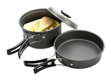 2-3 Person Outdoor Camping Cooking Set Cookware Portable Non-stick Pots Pans Bowls