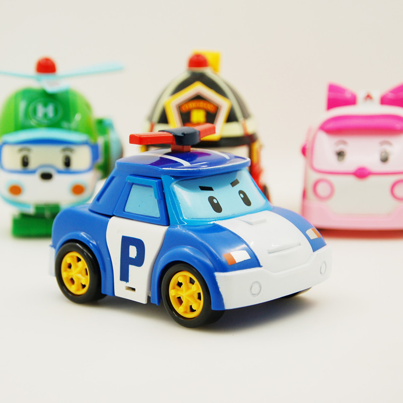 Robocar Poli Transformation Robot Car Toys Korea Robocar Poli Toys For Children Gifts 4pcs/Set Without Box(China (Mainland))
