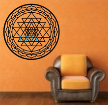 Sri Yantra Wall Decal mandala Sticker Art Decor Bedroom Design Mural interior design art Circular geometry Graphic H57cm x W57cm