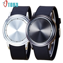 OTOKY Lovers Watch Fashion Couple Touch Screen Circular Pattern Silicone Band LED Wrist Watch for women men #30 Gift 1pc