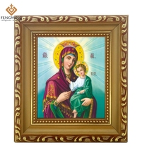 Factory outlets cheap wood photo frame lcon ofMother maria and jesus russian orthodox church website byzantine  religious system