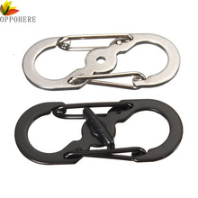 OPPOHERE Mini S Ring Buckle Lock Carabiner locking Hook Clip Hiking Climbing Camping Keychain